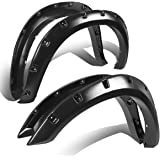 Dodge Ram 1500 Grain Textured Pocket-Riveted Style Side Fender/Cover/Protector Wheel Flares (Black)