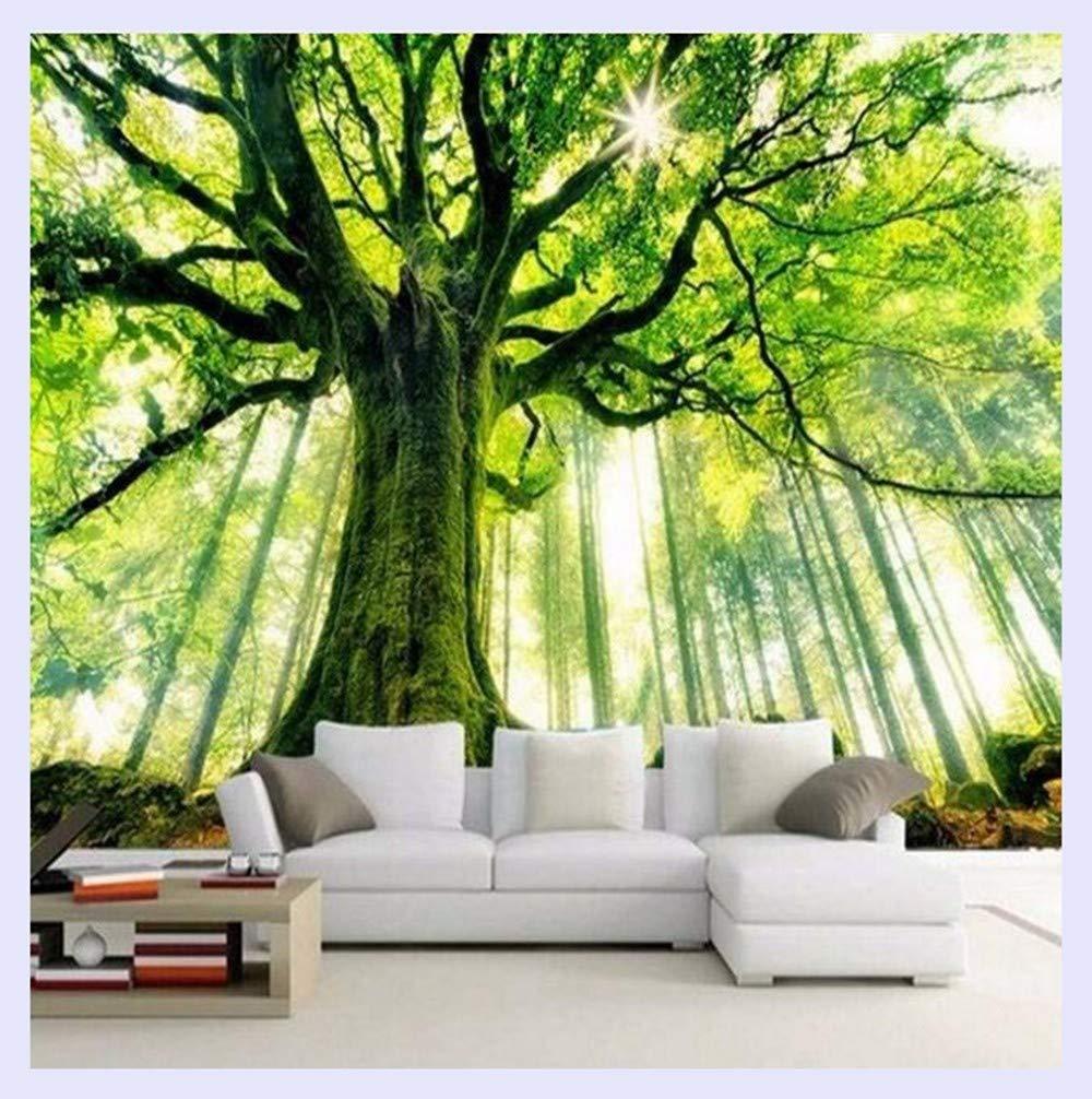 BHXINGMU Benutzerdefinierte 3D Fototapete Baum Wald Große Wandbild Wandkunst WohnzimmerTapete Für Schlafzimmer Wände 250Cm(H)×360Cm(W)
