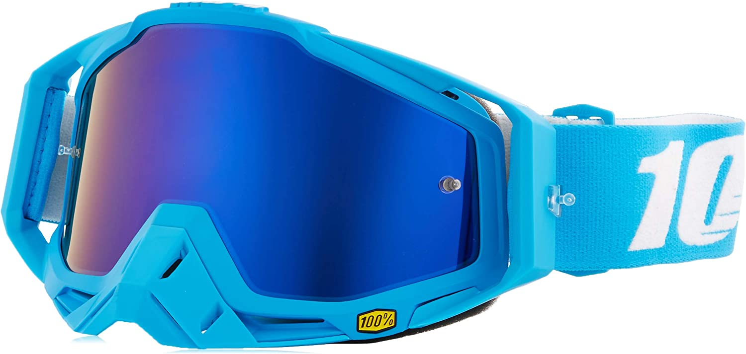 100% unisex-adult Speedlab (50110-245-02) RACECRAFT Goggle Monoblock-Mirror Blue Lens, One Size