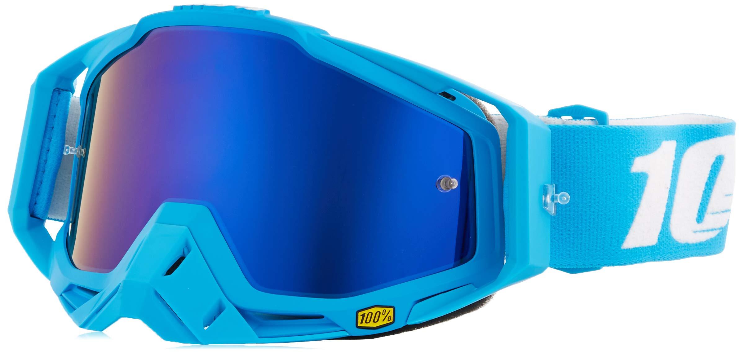 100% Unisex-Adult Speedlab (50110-245-02) RACECRAFT Goggle Monoblock-Mirror Blue Lens, One Size)