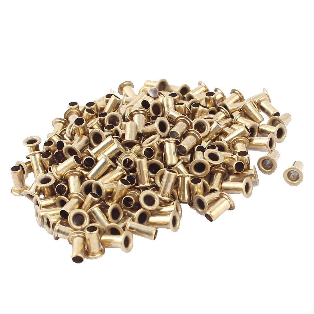 200 piezas M4x8 Through Orificio Remaches Hueco Arandelas PCB Placa De Circuito Sourcingmap a15091700ux0364