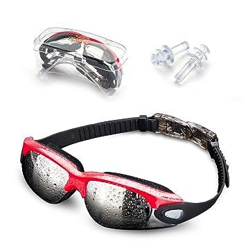 fd5380bbef Jusial Gafas de Natación, Gafas para Nadar Antiempañado y Anti Rayos UV para  Mejor Hombres