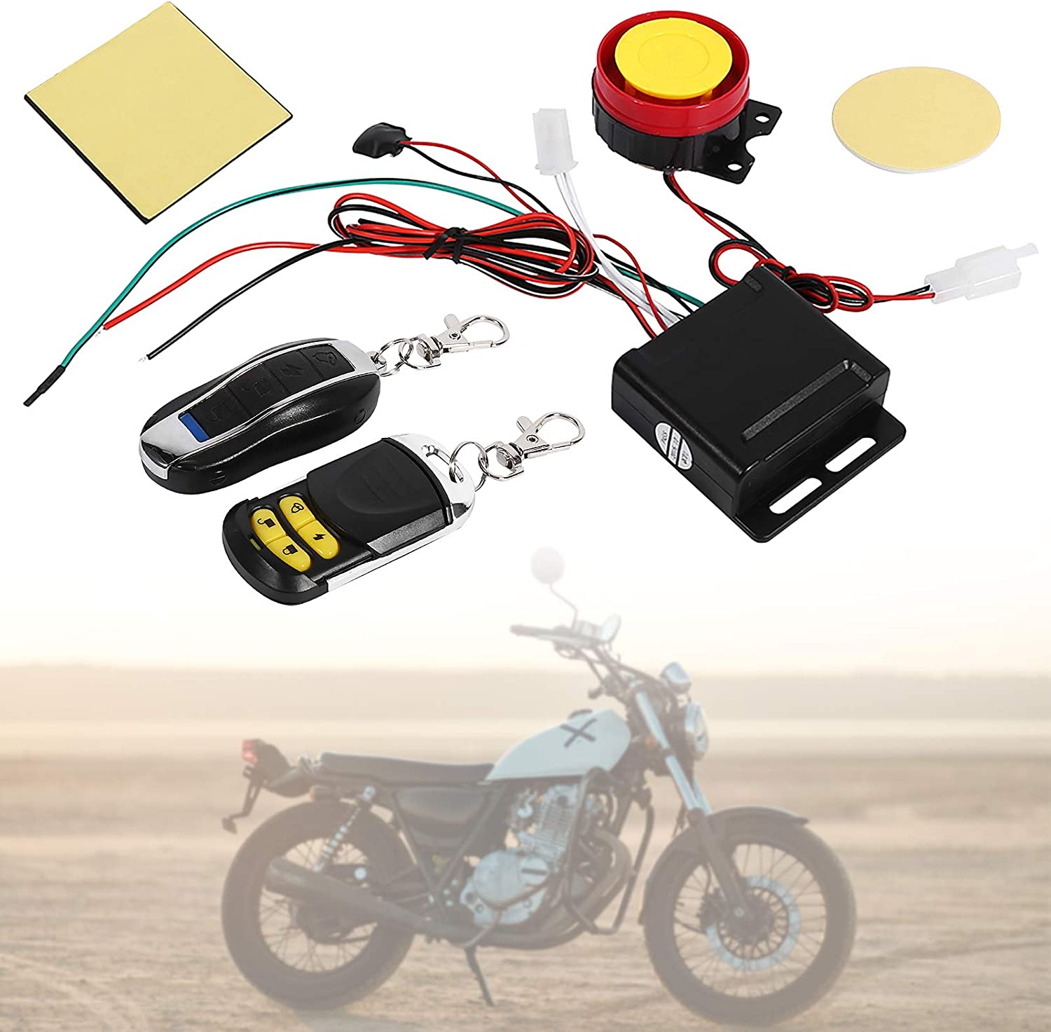 Details about  /Motorcycle Bicycle Anti-theft Alarm Wheel Disc Brake Lock Waterproof Sturdy Safe