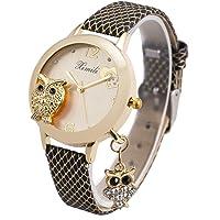 Montre Bracelet Femmes Dames Filles Bracelet Cuir SIBOSUN Or Hibou Pendentif Cristal Mouvement Quartz