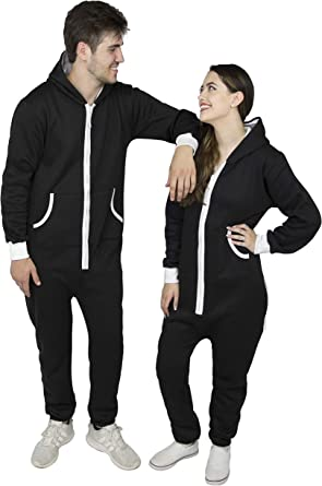 SKYLINEWEARS Mens Onesie Fashion Playsuit Unisex Jumpsuit