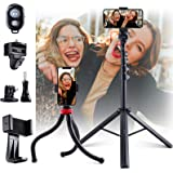 [Lightweight and Portable] 60'' Phone Tripods Stand, Anwas Selfie Tripod with Bluetooth Remote Easy to Use for Zoom Meeting,