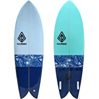 Paragon Surfboards Retro Fish Surfboard | Fast, Stylish & Fun Surf Board Ideal to Ride Small to Medium Sized Waves | 5…