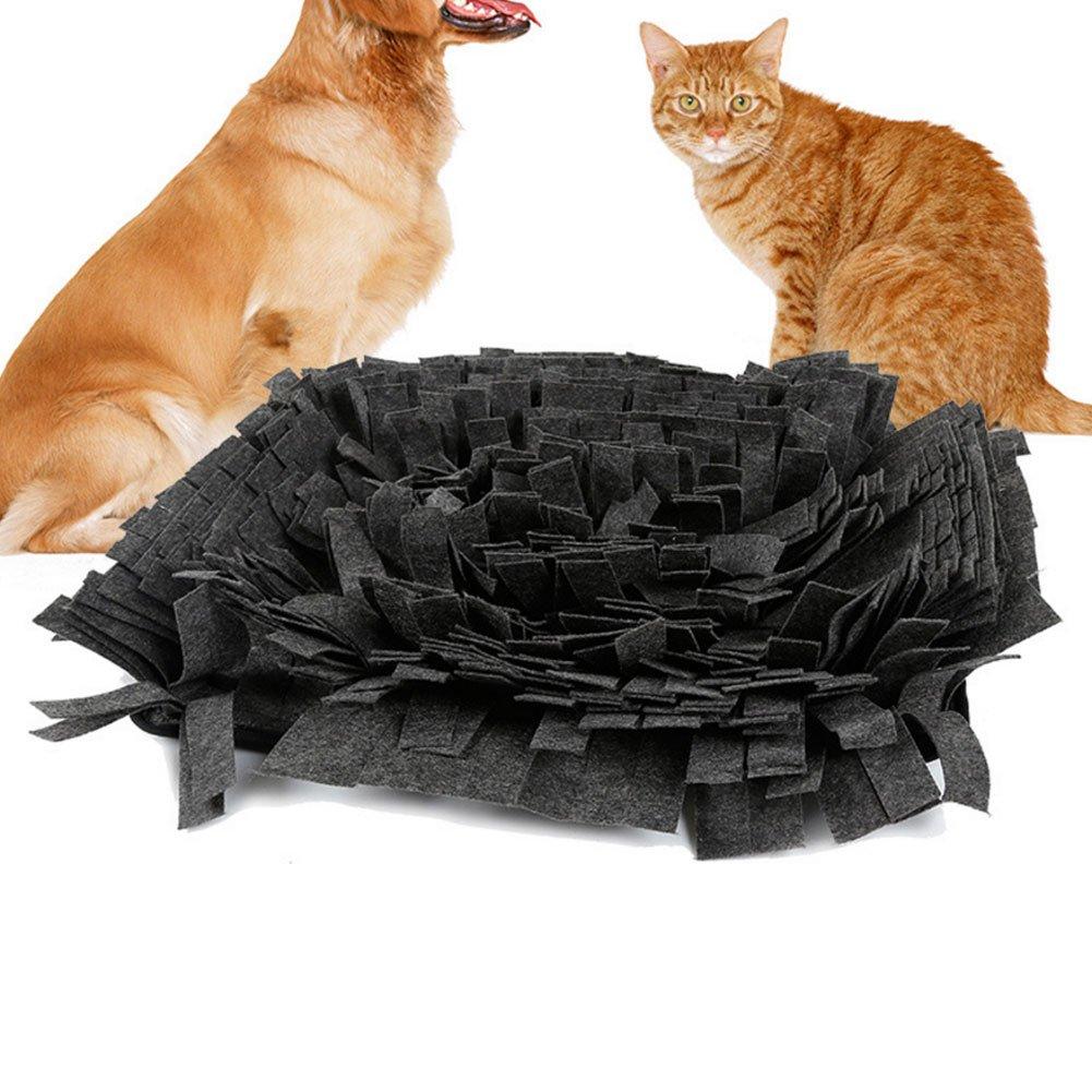 Tapis pour le Sens de l'odeur Polaire Connexions avec Chien Animaux Reniflant Snuffle Tapis Pad Lavable Pet Training Blanket Consommation Physique Puzzle Sniffing Toy tingtin