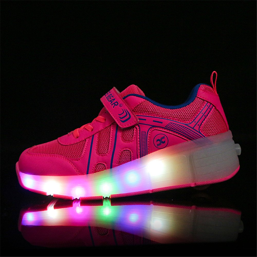 Hanglin Trade Boy Girl LED Light Up Roller Wheel Skate Sneaker Sport Shoes Dance Boot