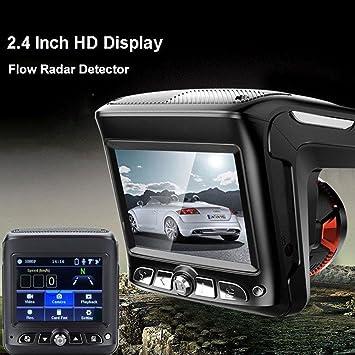 ZHUOTOP - Cámara de vídeo para coche (2,4 pulgadas, HD, 1080p, sensor de velocidad de radar, DVR): Amazon.es: Coche y moto