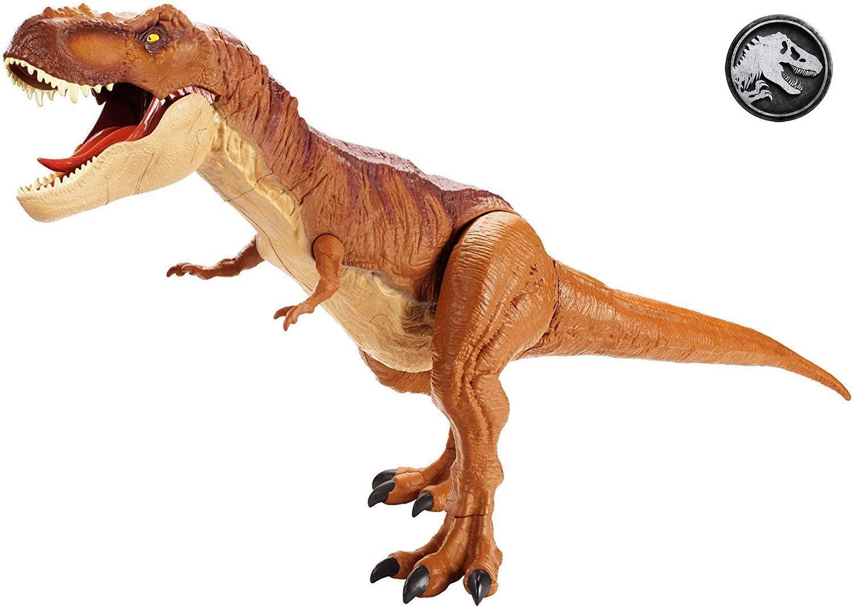 Jurassic World Tyrannosaurus Rex Supercolosal, dinosaurio de juguete (Mattel FMM63)