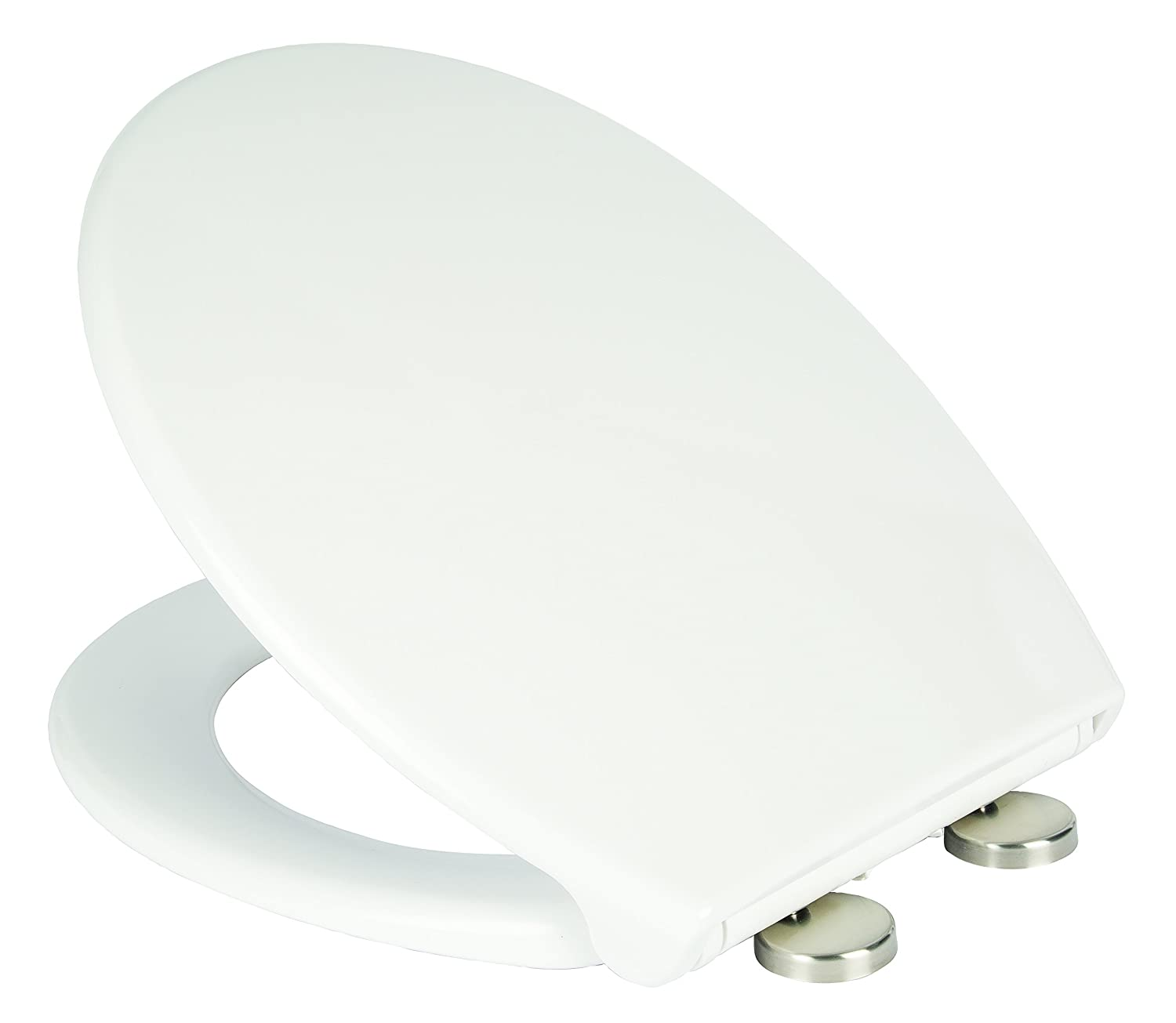 Croydex Luminoso Self Lighting Urea Toilet Seat with Quick Release and Stainless Steel Top Fix Soft Close Hinges, White Croydex Ltd WL533122E