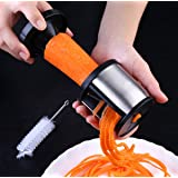 Vegetable Spiralizer,FLYTON Stainless Steel Handheld Spiralizer Slicer,Small & Easy Clean Spiralizer Grater Kitchen Tool for Potato,Carrot,Cucumber