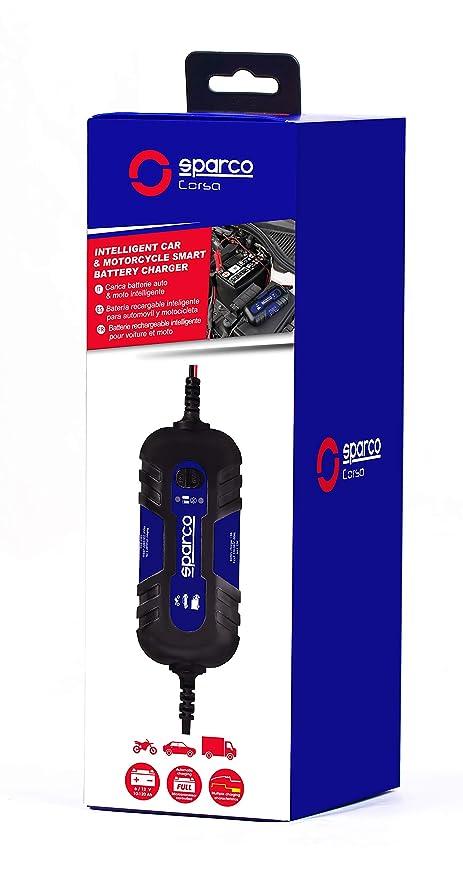 Sparco spt500 Cargador de baterías para Coche and Moto Inteligente ...