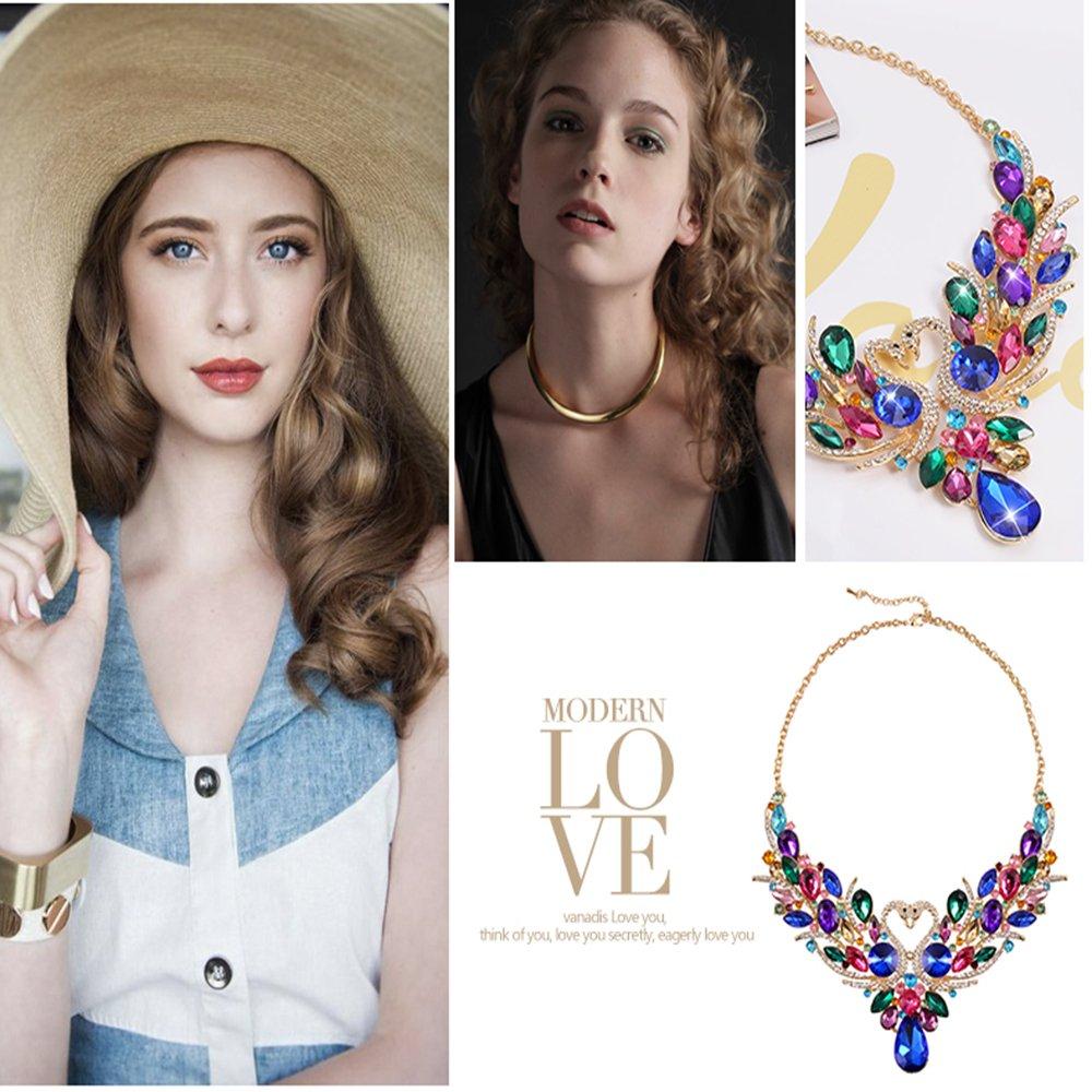 SEKAISORA Fashion Elegant Fine Diamond Necklace Temperament With Swan Set jewelry Set Chain by SEKAISORA (Image #8)