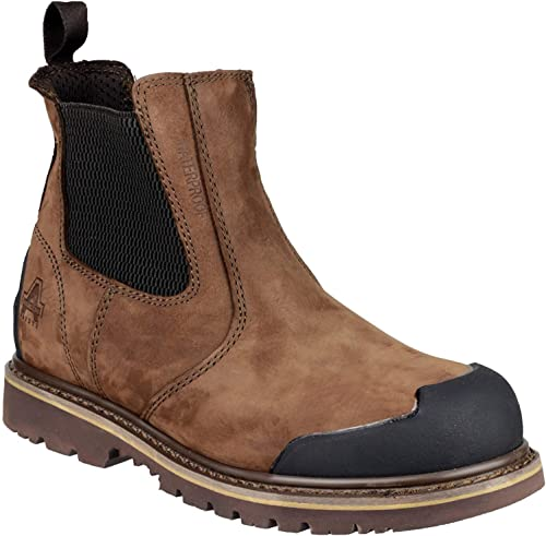 Mens Size UK 8 Site Mudguard Brown Steel Toe Cap Safety Chelsea Dealer Boots NEW