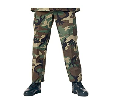 471f9b8703133d Camouflage Military BDU Pants, Army Cargo Fatigues (Woodland Camouflage,  Size X-Small