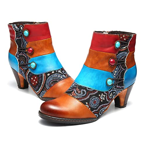 Women/'s Leather Boots Knee High Block Low Heel Buckle Shoes Winter Supplies OS