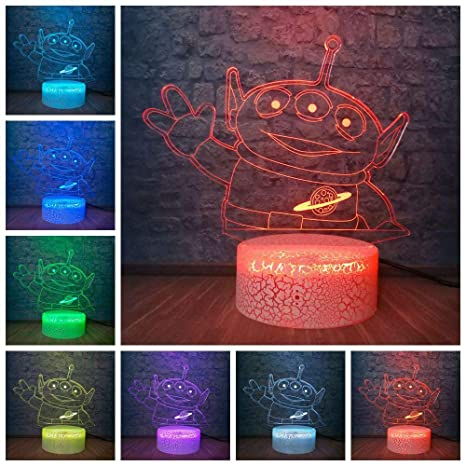 Toy Story Green Aliens 3D Led Kid Night Light Dormitorio ...