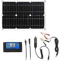 Meroteen Panel Solar 12V 18W,kit Solar Camper con USB,panel solar portatil 100Ah con Charge Controller,Placa Solar para…