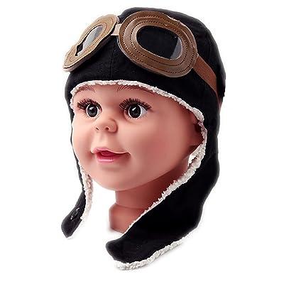 A Little Lemon Super Cool Baby Infant Kid Soft Warmer Winter Hat  Pilot  Aviator Cap 2db4e27d90fd