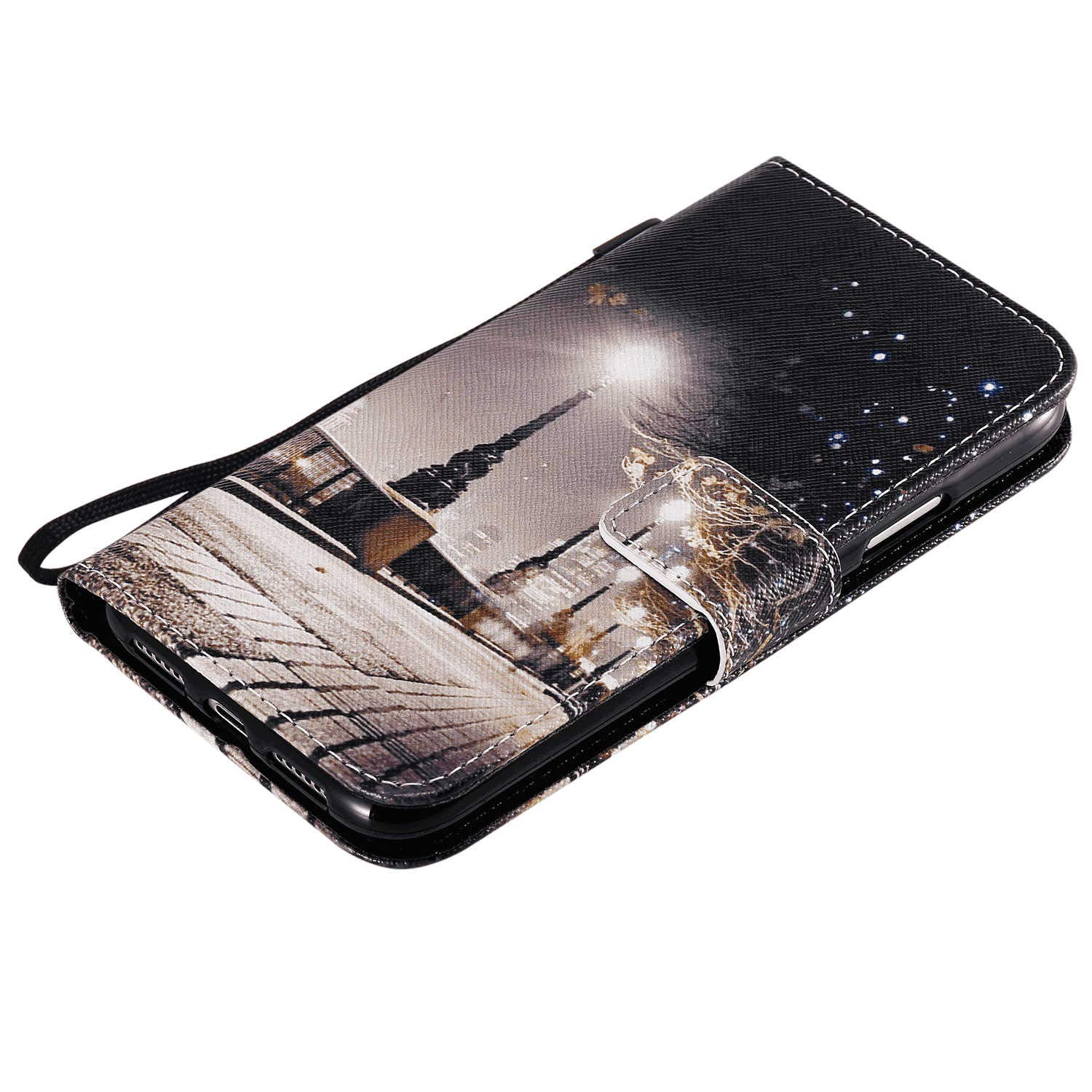 Samsung Galaxy S8 Flip Case Cover for Samsung Galaxy S8 Leather Card Holders Wallet case Kickstand Extra-Durable Business with Free Waterproof-Bag