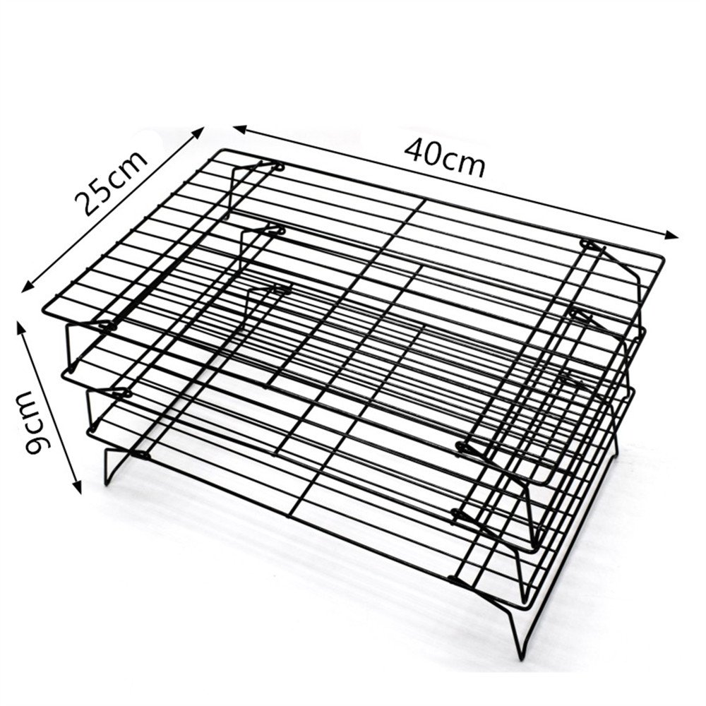 AK ART KITCHENWARE 3 layers Cooling Racks for cookie cake bread Oven Rosting by AK ART KITCHENWARE (Image #2)
