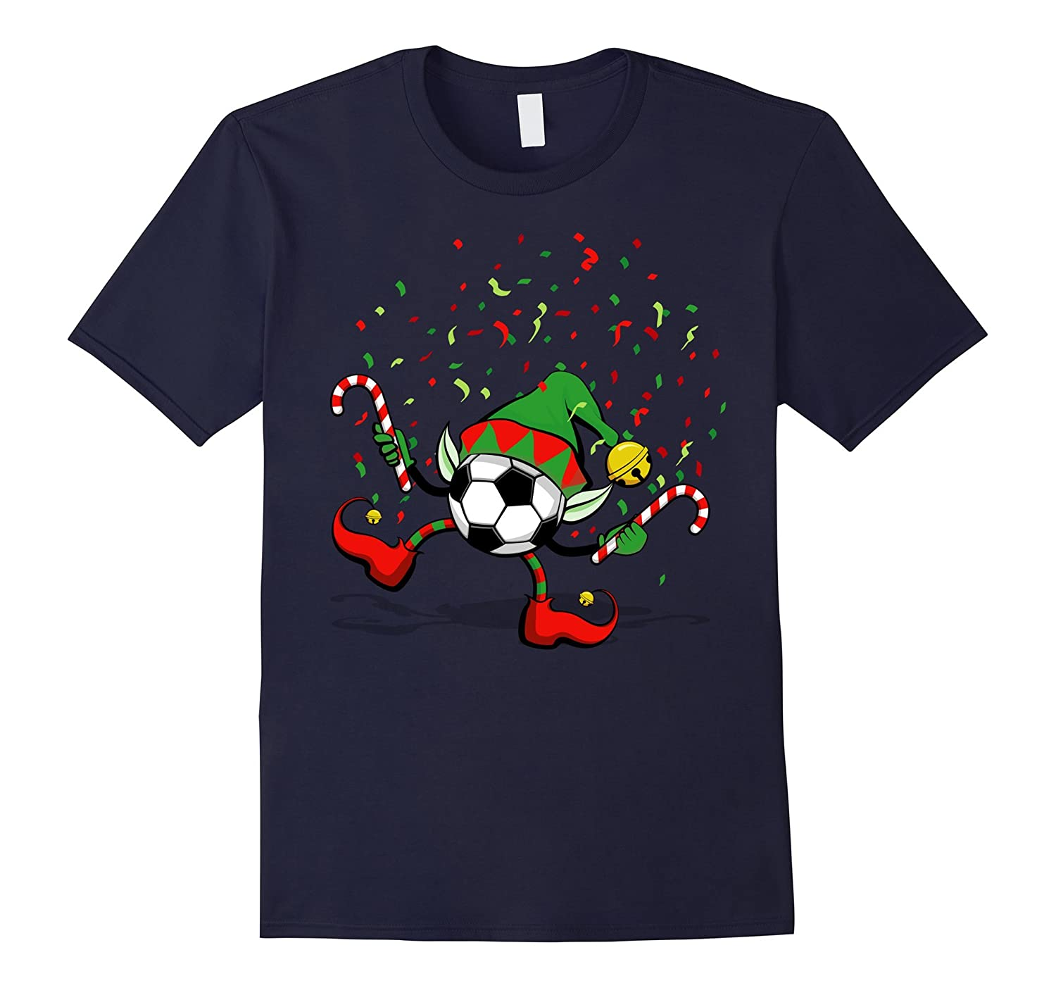 Dancing Soccer Christmas Elf T-Shirt