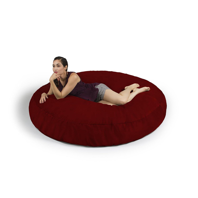 Amazon.com: Jaxx 6 Foot Cocoon   Large Bean Bag Chair For Adults, Cinnabar:  Kitchen U0026 Dining