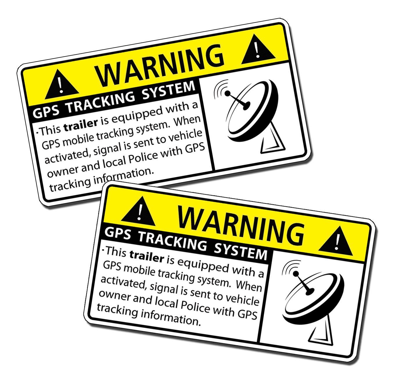 amazon com gps trailer alarm security caution warning decal amazon com gps trailer alarm security caution warning decal sticker automotive