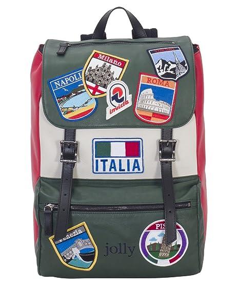 88abb6ba46 Zaino INVICTA - MY JOLLY ITALY - in Pelle MADE IN ITALY - Tasca porta pc