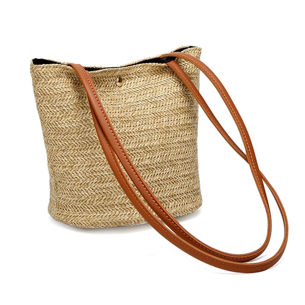 1ecc8c7f949c Amazon.com: Clearance TOOPOOT Women Top Handle Straw Bag Shoulder ...