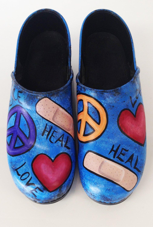 Love, Peace, Heal Dansko Professional Clog