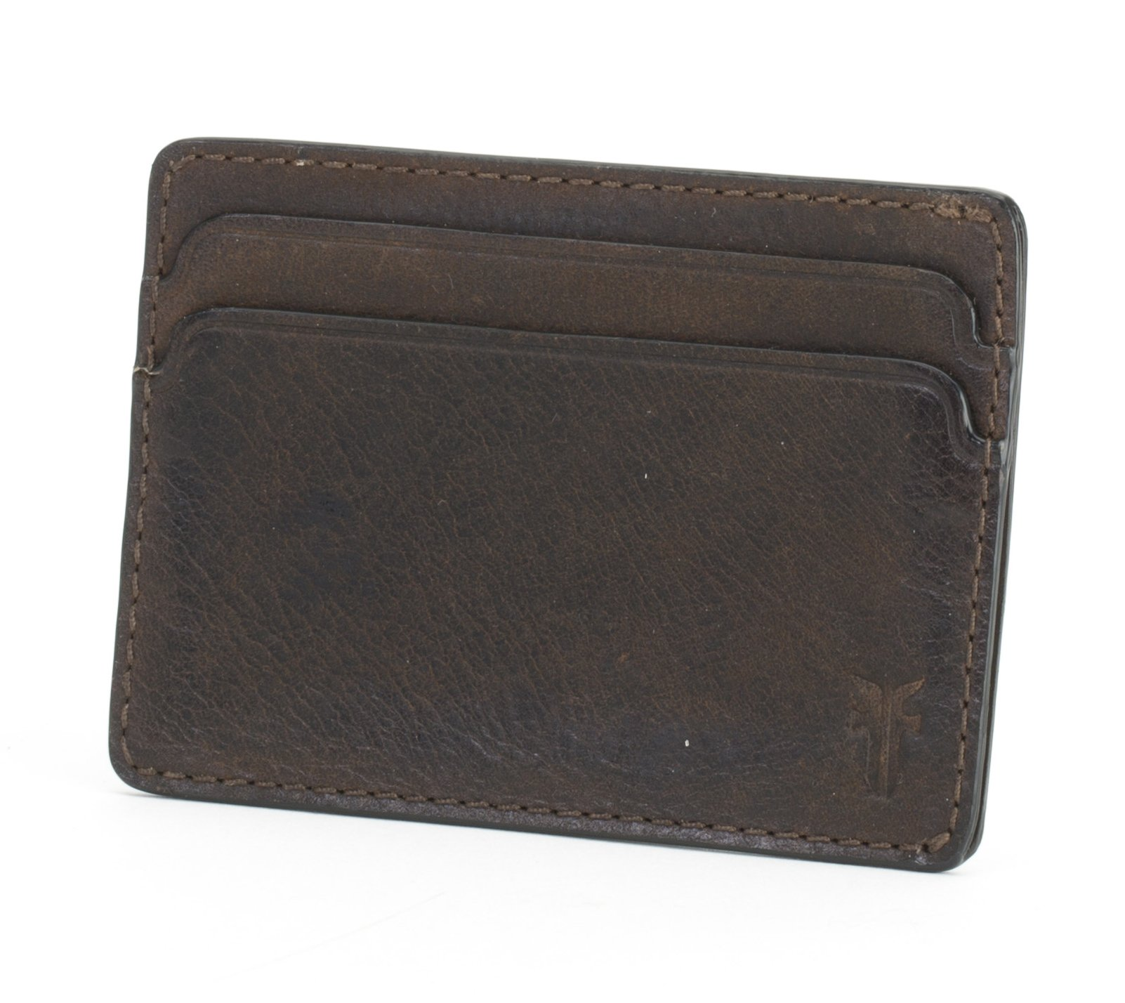 FRYE Men's Oliver Id Card Case, Dark Brown, One Size by FRYE