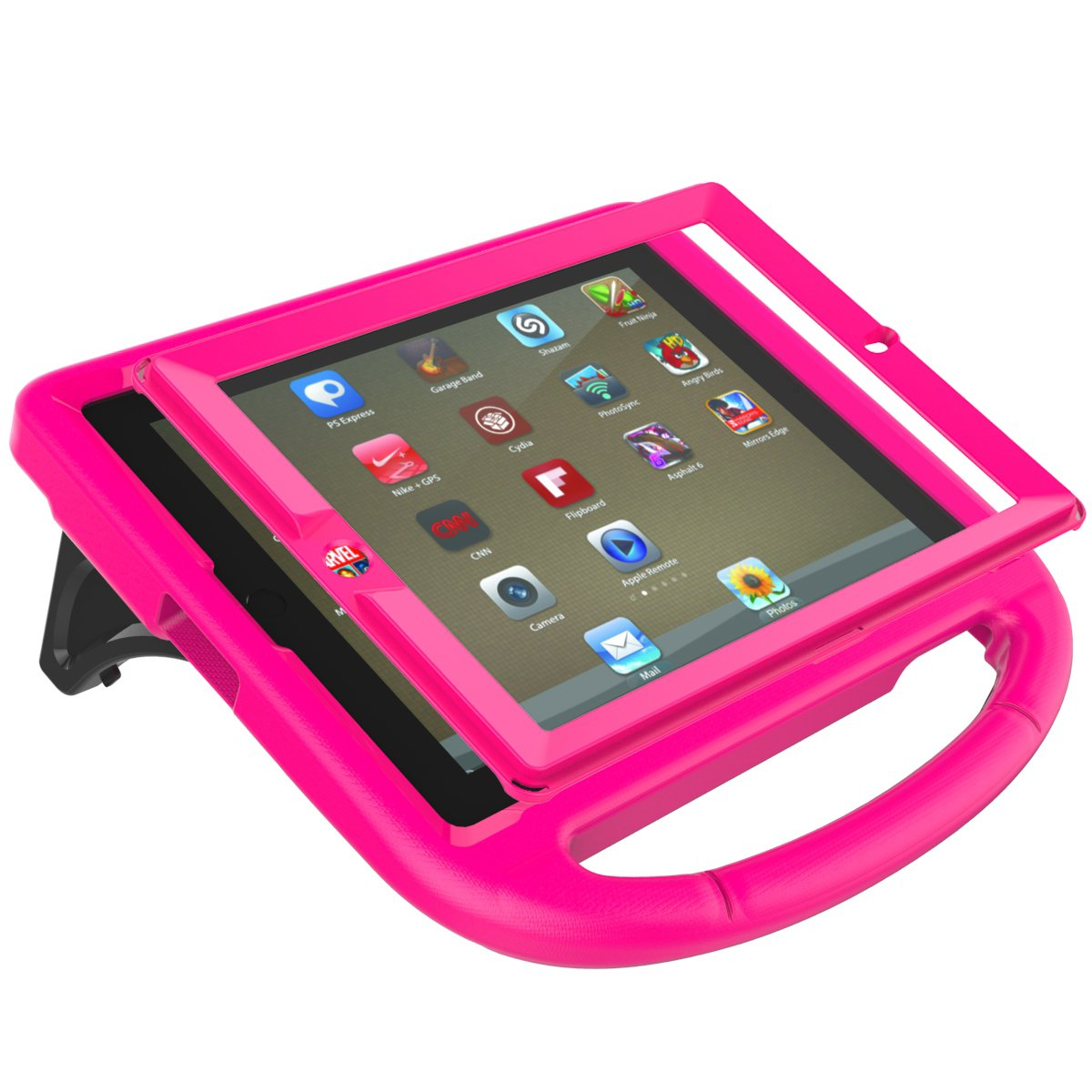 LTROP iPad 2 3 4 Kids Case - Light Weight Shock Proof Handle Friendly Convertible Stand Kids Case with Bulit in Screen Protector for iPad 2, iPad 3rd Generation, iPad 4th Generation,Rose by LTROP (Image #5)