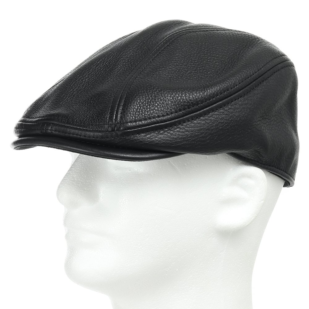 STOCKTON DRIVING CLASSIC Leather Ivy Unique Caps Hat 7 1/8 by Ultrafino (Image #1)