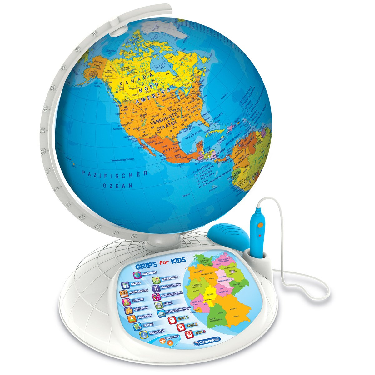 #0618 Interaktiver Entdecker Globus Weltkugel inklusive Stift und App-Funktion 32cm • Weltentdecker Kinder Spiel Interaktiv Spielglobus H-Collection