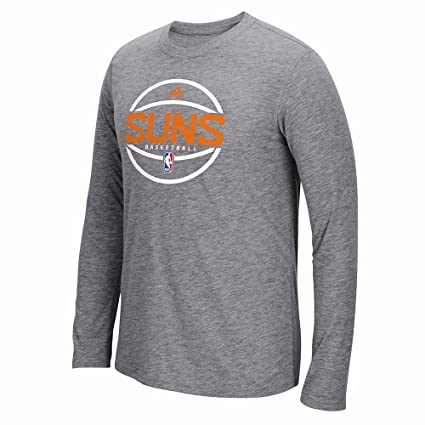 b70c60b7059b adidas Phoenix Suns NBA Grey Pre-Game Graphic Climalite Performance Long Sleeve  Ultimate T-