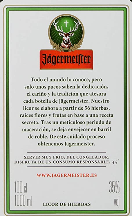 Jägermeister - Licor, 1000 ml