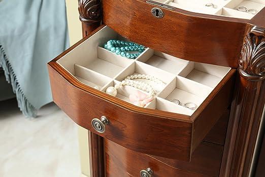 Amazon.com: mixcept organizador de joyas y accesorio Armoire ...