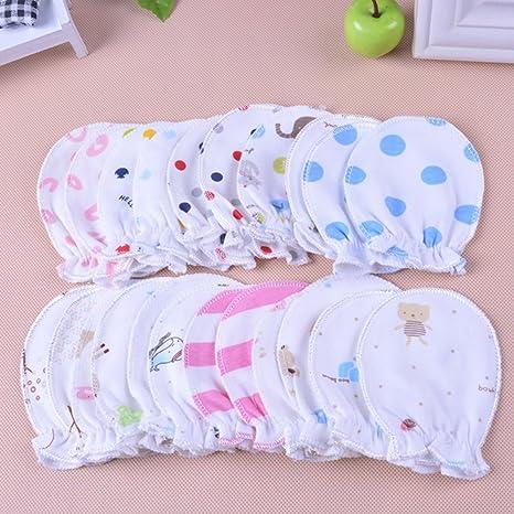 QLING - Manoplas antiarañazos para bebés recién Nacidos (0-6 Meses ...