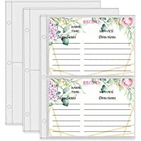 Recipe Binder Refill Pages, Recipe Card Page Protectors, 4 x 6 inch Pockets, Recipe Book Pocket Page Refill Sheets (50…