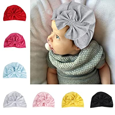 Sunbona Newborn Hat,Toddler Baby Cotton Turban Bow Hat India Hat Soft Beanies Cap For New Mother