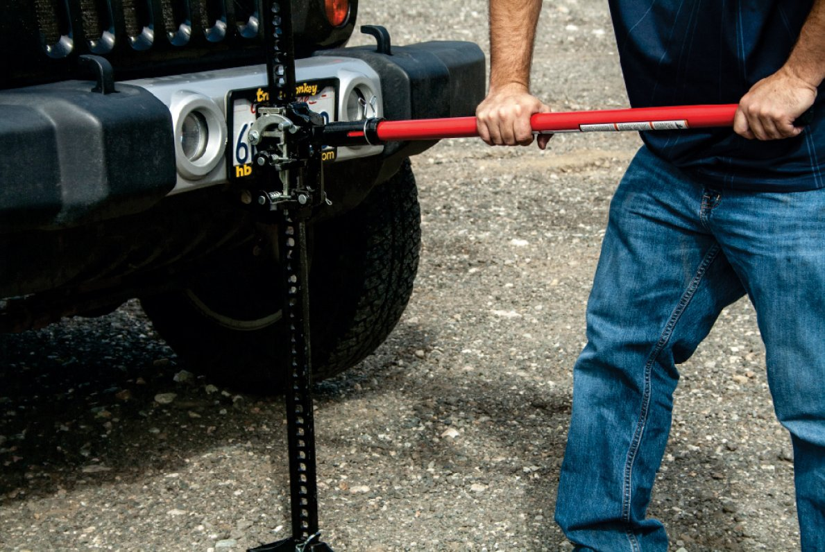 Torin Big Red 60'' Ratcheting Off Road/Utility Farm Jack, 3 Ton Capacity by Torin (Image #3)