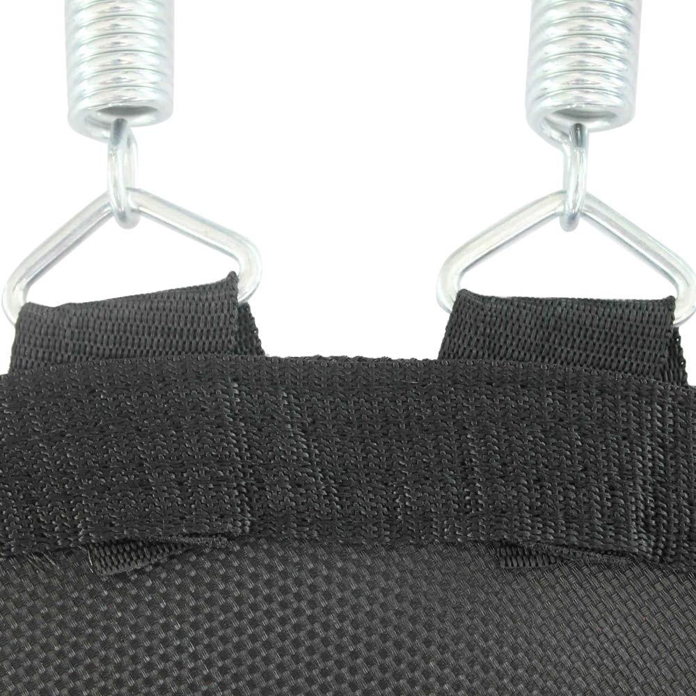 Lixada 38'' Mini Trampoline Band Safe Elastic Exercise Workout with Padding Springs Gray