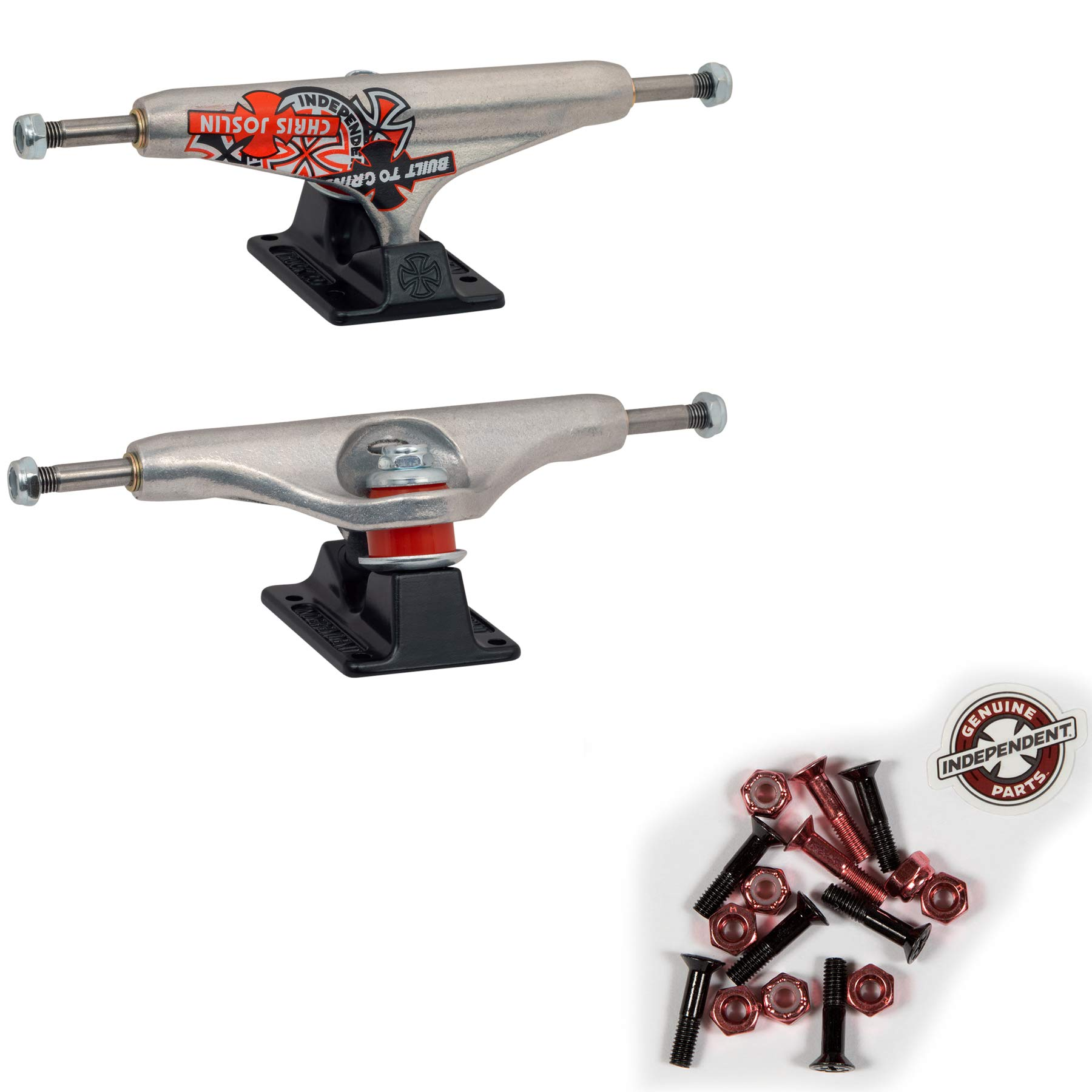 Independent Skateboard Trucks Hollow Chris Joslin 139 (8.0'') + Indy Red Hardware by Independent