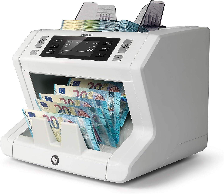 Safescan 2650 - Contadora automática de billetes clasificados. Detección UV, MG y tamaño