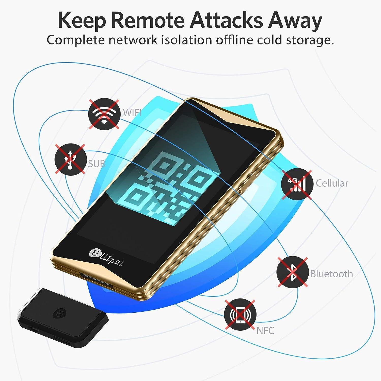 ELLIPAL Cryptocurrency Hardware Wallet –, 7000 + activos compatibles, multimoneda y almacenamiento en frío, billetera de aire, antidesmontaje y ...