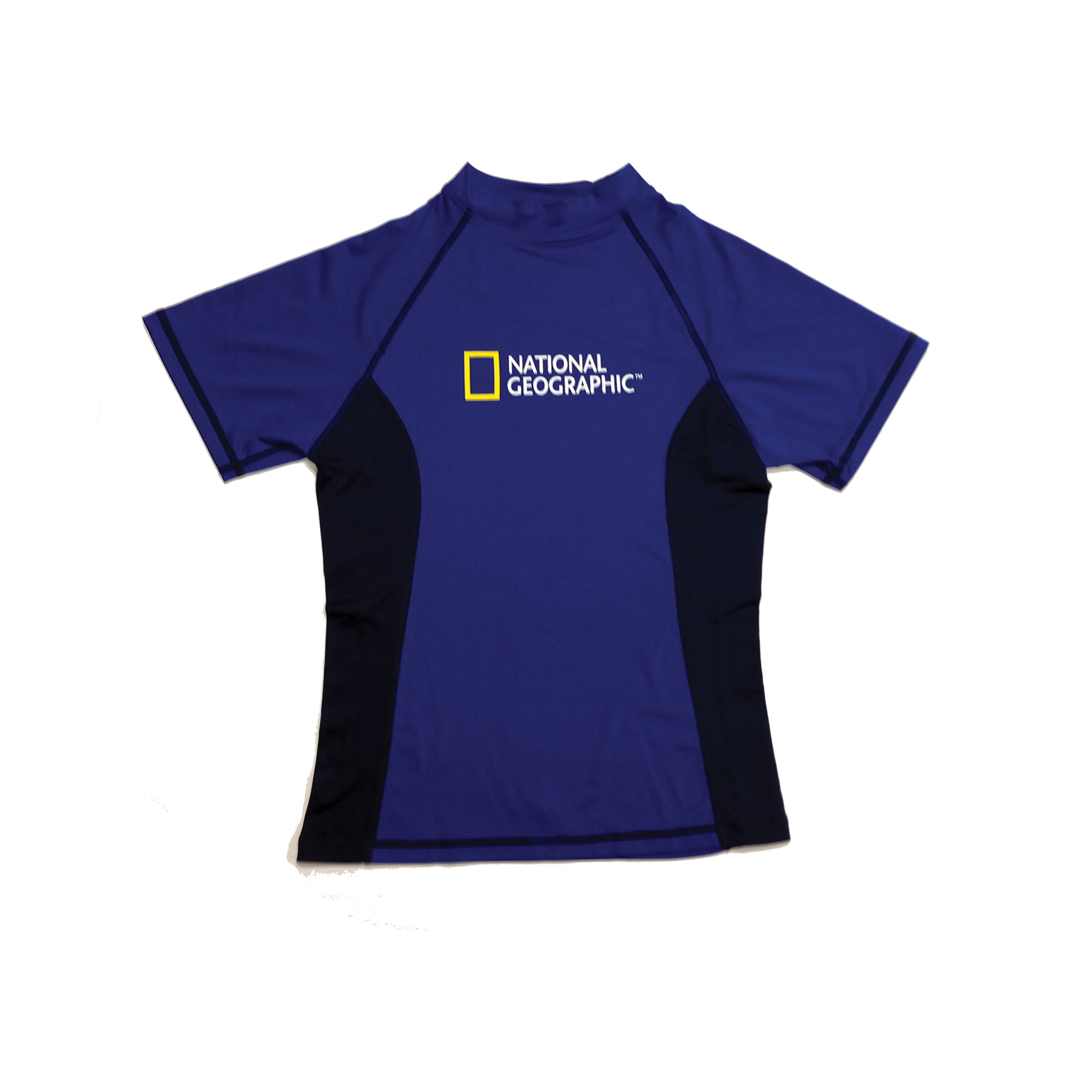 National Geographic Snorkeler 6740 Short sleeve Rash Guard Ladies Royal/Navy Small, Navy by National Geographic Snorkeler