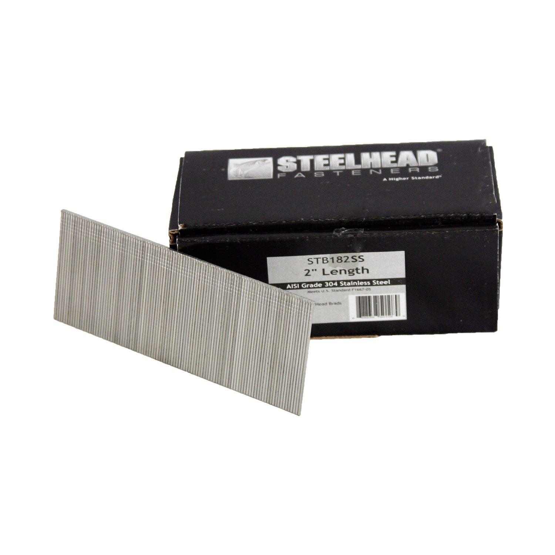 Steelhead STB182SS 18-Gauge 2-inch Stainless Steel Brad Nails, 5,000-Pack